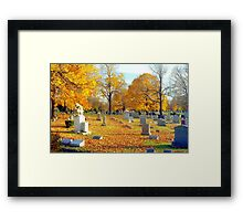 Autumn of our Lives  Framed Print