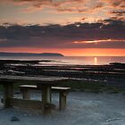 Picnic Table Sunset by kernuak