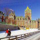 Winter Romance in Quebec City  by Alberto  DeJesus