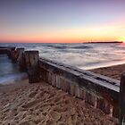 Sunset Over the Old Jetty by Sean Farrow