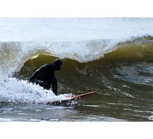 Winter Surfing in Maine Photographic Print