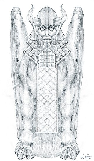 Babylonian Sphinx Lamassu by Curtiss Shaffer