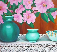 Camelia still life 2 by marlene veronique holdsworth