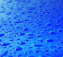 Water drops on surface by Medeu