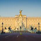 UK. London. Buckingham Palace. Union Jack decorations for Royal Wedding. by Alan Copson