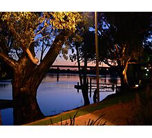 River Murray scene at Sunset, early Evening Photographic Print