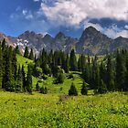 Mountain landscape by Medeu