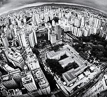 Sao Paulo sky view by Silvio Tanaka Fonseca