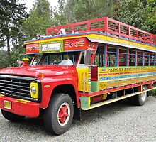 LA CHIVA- Tourists buses in Colombia by Esperanza Gallego