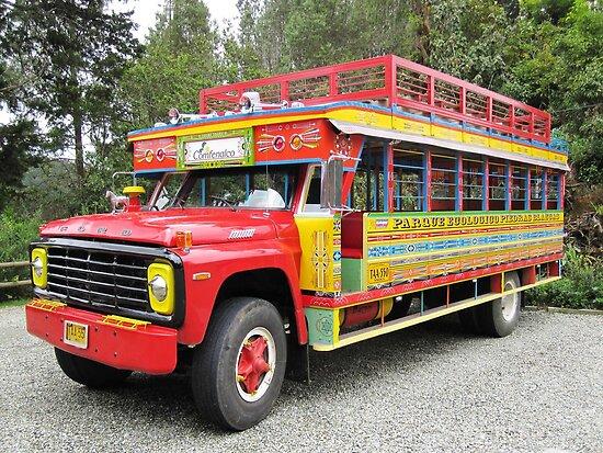 LA CHIVA- Tourists buses in Colombia by Esperanza Gallego