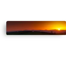 Sunset over Donegal Mountains Canvas Print