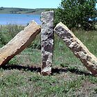 Fence Posts - Wilson Lake, KS by searchlight