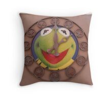 Kermit Clock - Walt Disney World Throw Pillow