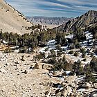 """Jill's"" slide area on trail to crest of Kearsarge Pass by Jean  Atwood"