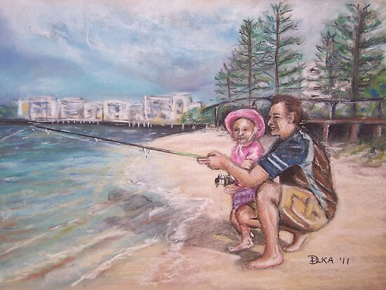 Fishing Buddies by Dianne  Ilka