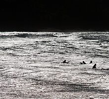 The Surfers - Coles Beach, NW Tasmania by Kristi Robertson