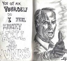 Clint Eastwood Dirty Harry  by Angel Veselinov
