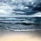 Sandy beach at stormy day. Dramatic sky by MotHaiBaPhoto Dmitry & Olga