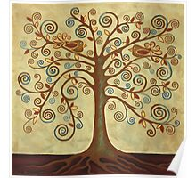 'Tree of Life' Acrylic Painting Poster