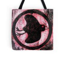 Black Bird Symbol - Cardboard Etching Tote Bag