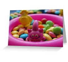 The monsters love sweets like me :) Greeting Card