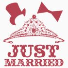 Just Married Princess Bride Top Hat Groom by SaMack
