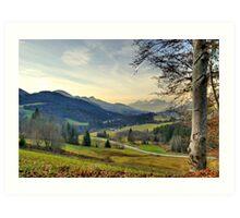 Across the Valley Art Print