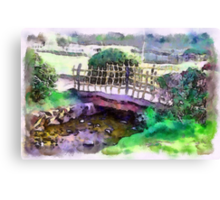 The Zen Garden Bridge Canvas Print