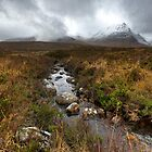 Stream and mountains, Rannoch Moor by Gary Eason + Flight Artworks