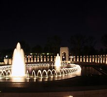 WWII Memorial - Washington, D.C. by searchlight