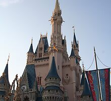 Cinderella's Castle - Walt Disney World by searchlight