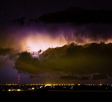 Lightning Thunderstorm Cloud Burst by Bo Insogna