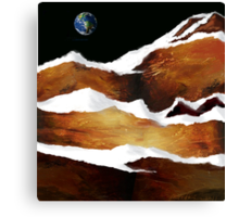 """""""Moon Over Planet X"""" Canvas Print"""