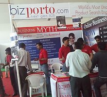 bizporto booth offering world's most unique product search engine by bizporto