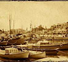 Piraeus Harbour - Greece - 1969 by pennyswork