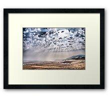 Heavenly Rays at Sandsend Beach Framed Print