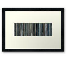 Moviebarcode: Moon (2009) Framed Print