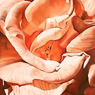 Rosa Dorada - oil painting of a golden rose by James  Knowles