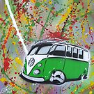 Splitty Splatter 01 Painting by Richard Yeomans