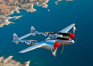 P-38 Lightning by StocktrekImages