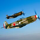 A Yakovlev Yak-3 &amp; P-51A Mustang by StocktrekImages
