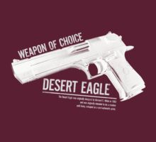 'Weapon of Choice - Desert Eagle' - White Logo by Loftworks