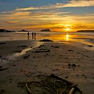 Heart shaped sunset - Tofino, British Columbia by Phil McComiskey