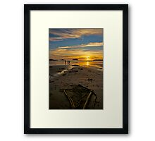 Heart shaped sunset - Tofino, British Columbia Framed Print
