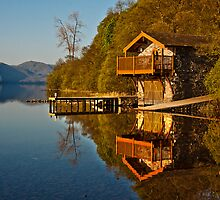 Morning light on an Ullswater boathouse by Shaun Whiteman