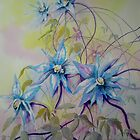 Blue Clematis by Lynn Norris