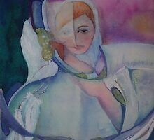 Spiritual Dove Lady (Winter) by Ellen Keagy