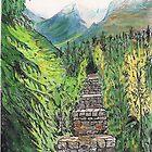 Illecillewaet Bridge, Canadian Rockies by Lynda Earley