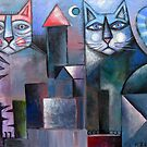 Village Cats by Karin Zeller