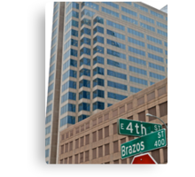 High Rise Reflection 4 - Downtown - Austin Texas Series - 2011 Canvas Print